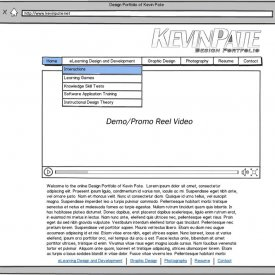 KevinPate.net Wireframe (May 2012)
